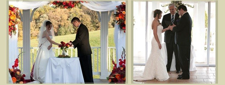 Brides can choose between an outdoor wedding ceremony or an indoor wedding ceremony at Morningside Inn