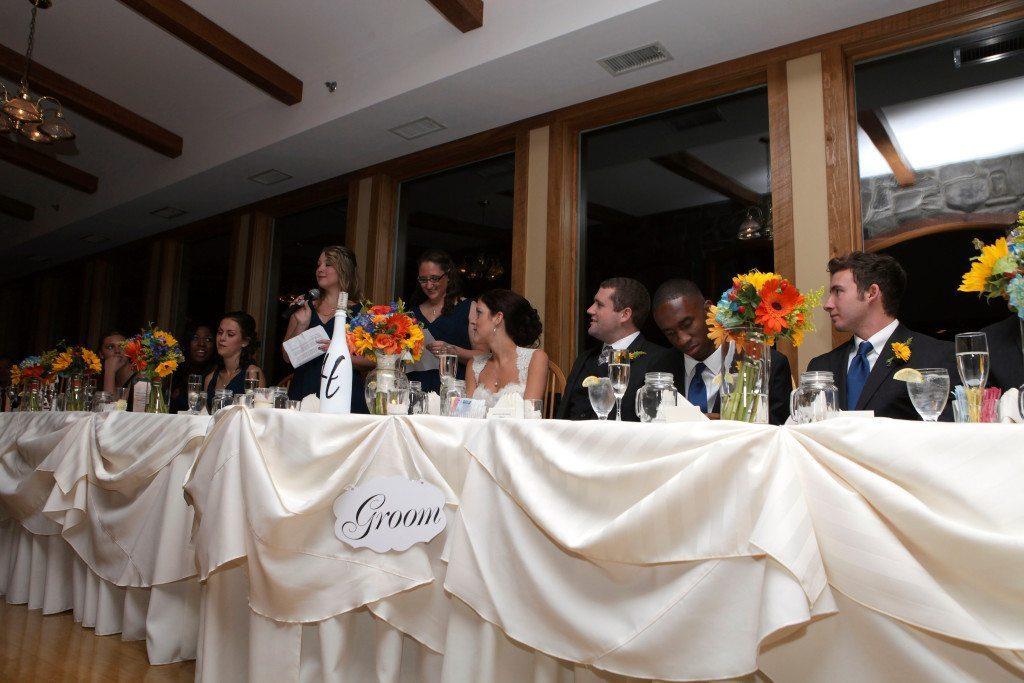 Kerry & Jacob's head table