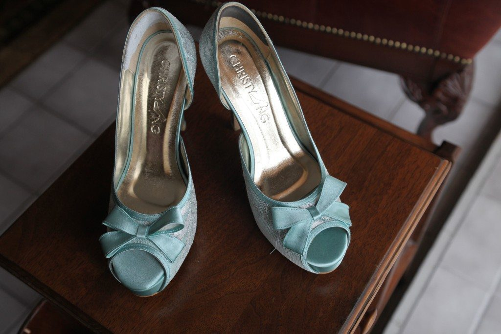 blue bride shoes