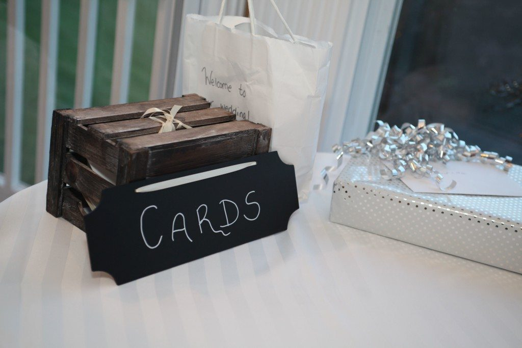 wedding gift table
