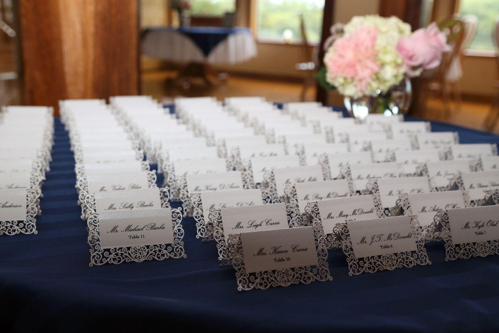 Summer wedding table placement cards