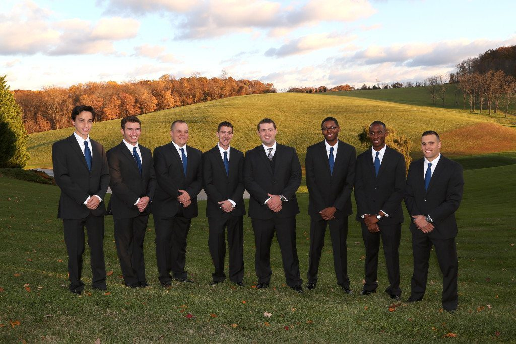 Groomsmen at Kerry & Jacob's country wedding