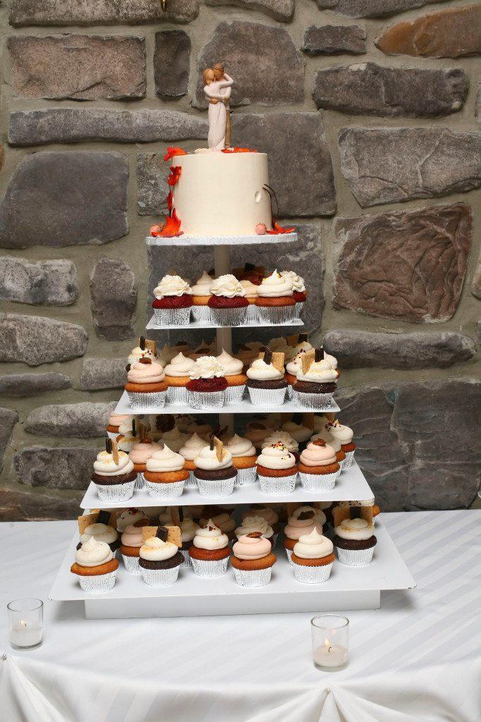 Wedding Cake at Kerry & Jacob's Fall Outdoor Wedding