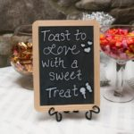 Treat Sign at Kerry & Jacob's Fall Outdoor Wedding