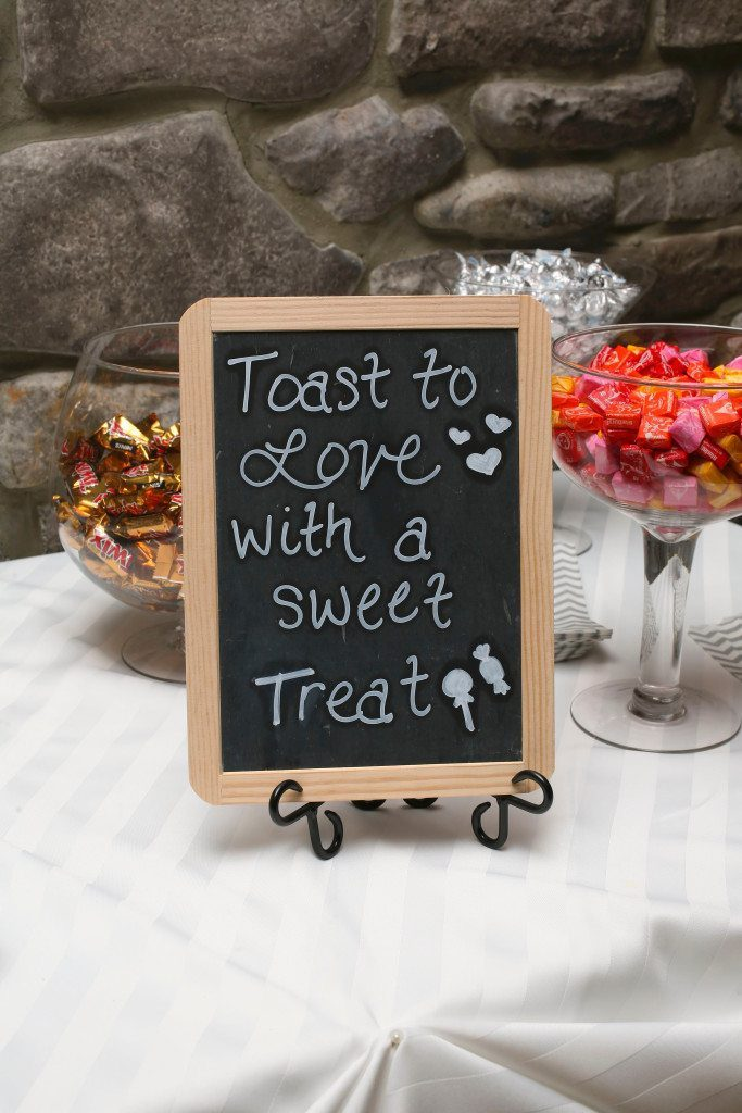 Treat Sign at Kerry & Jacob's Fall Outdoor Wedding