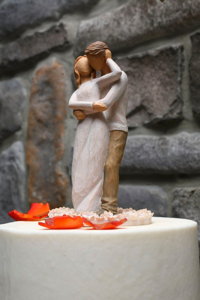 Wedding Cake Topper at Kerry & Jacob's Fall Outdoor Wedding