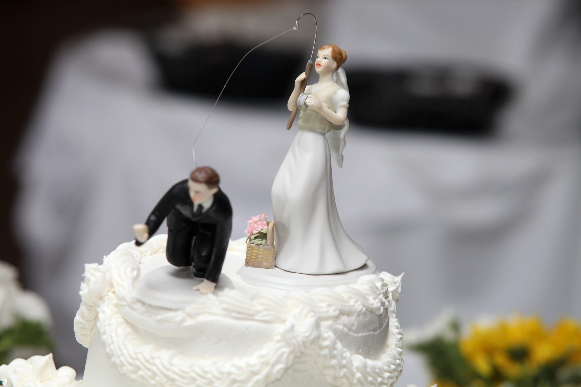 Cake Topper Fishing Groom