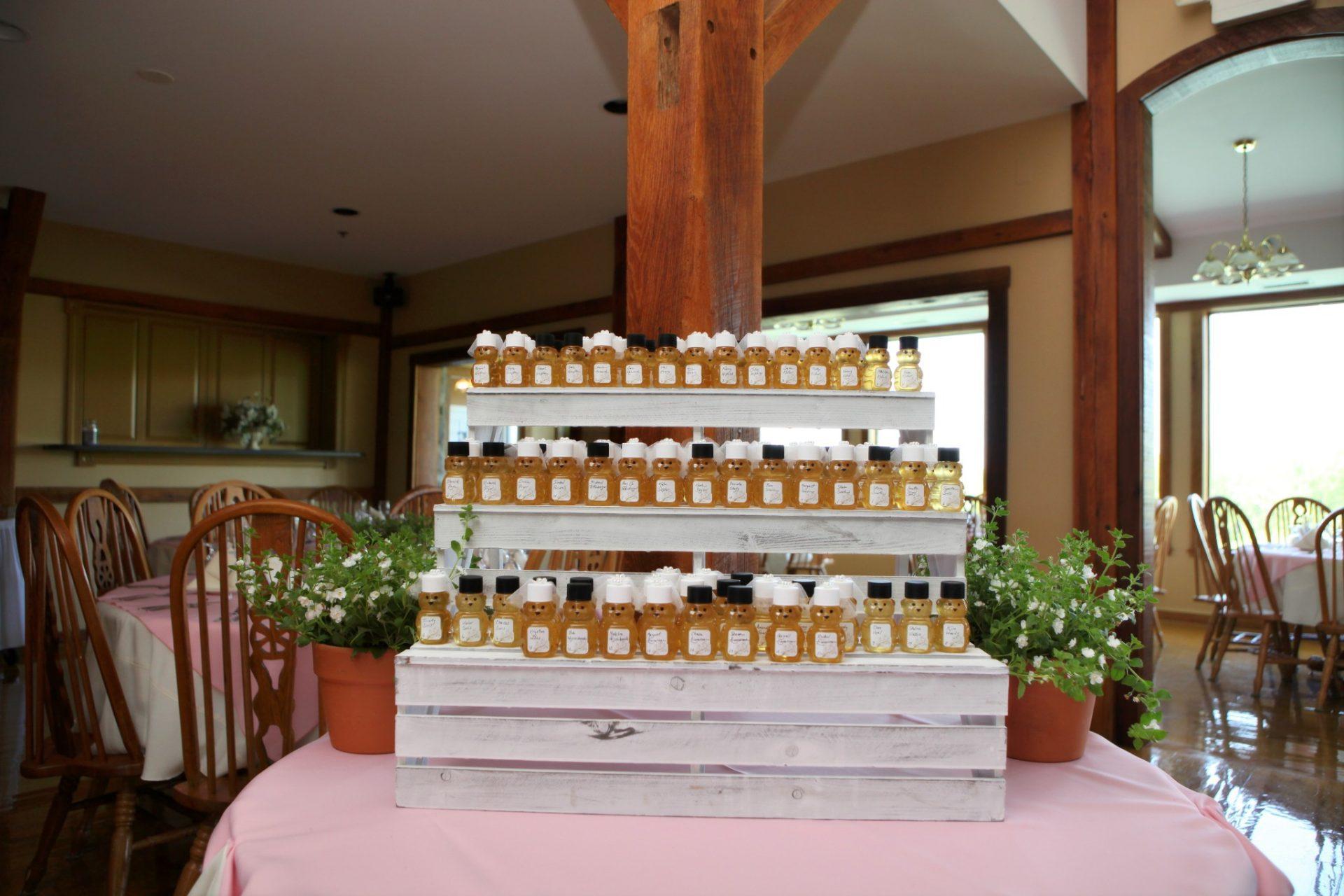 honey jar wedding favors