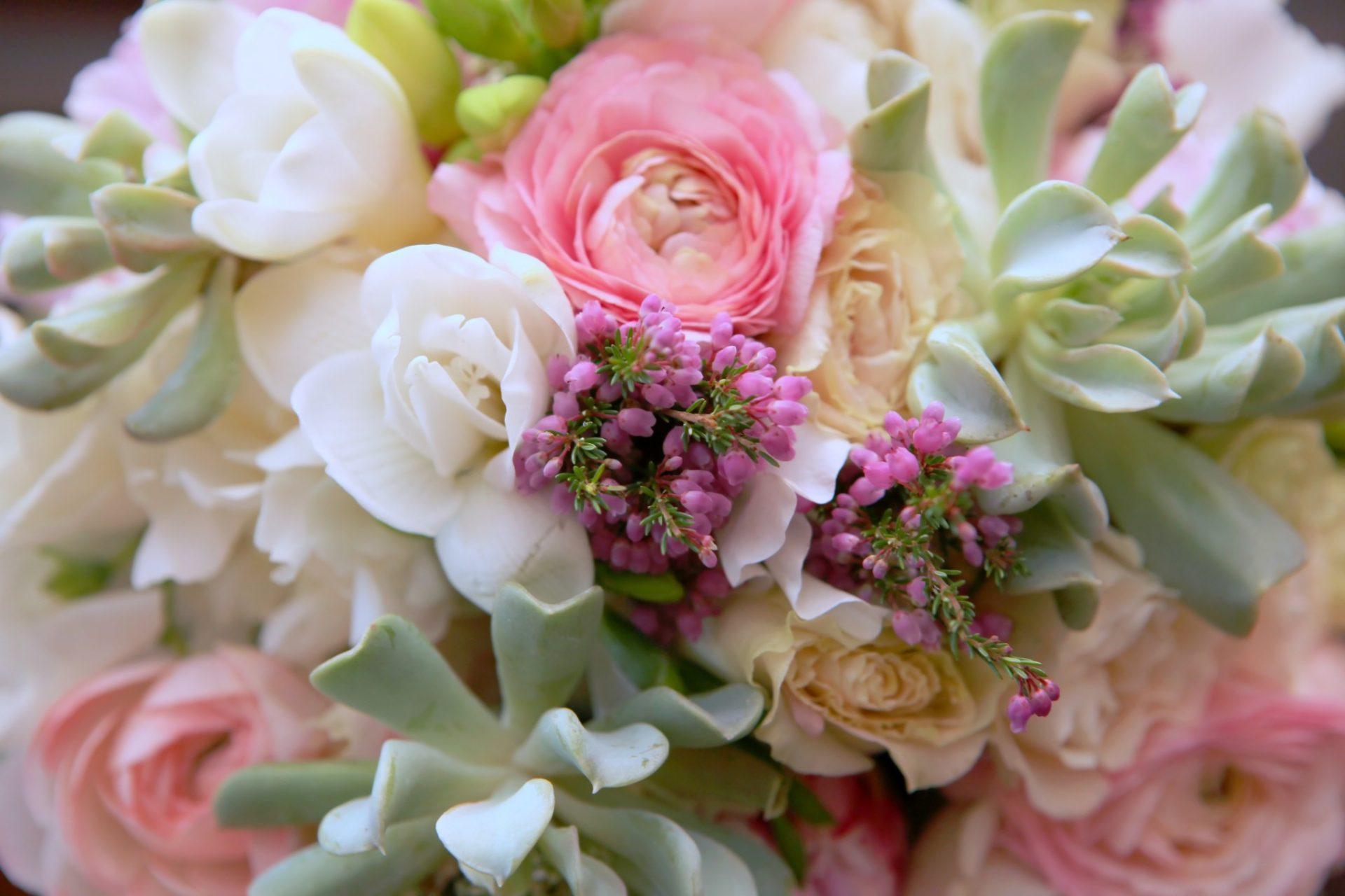 Wedding Reception pink flowers
