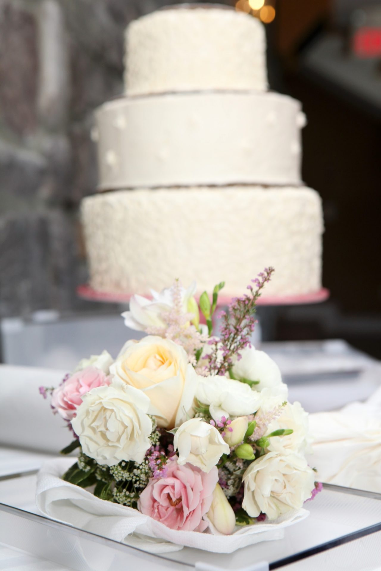Wedding Reception wedding cake side view