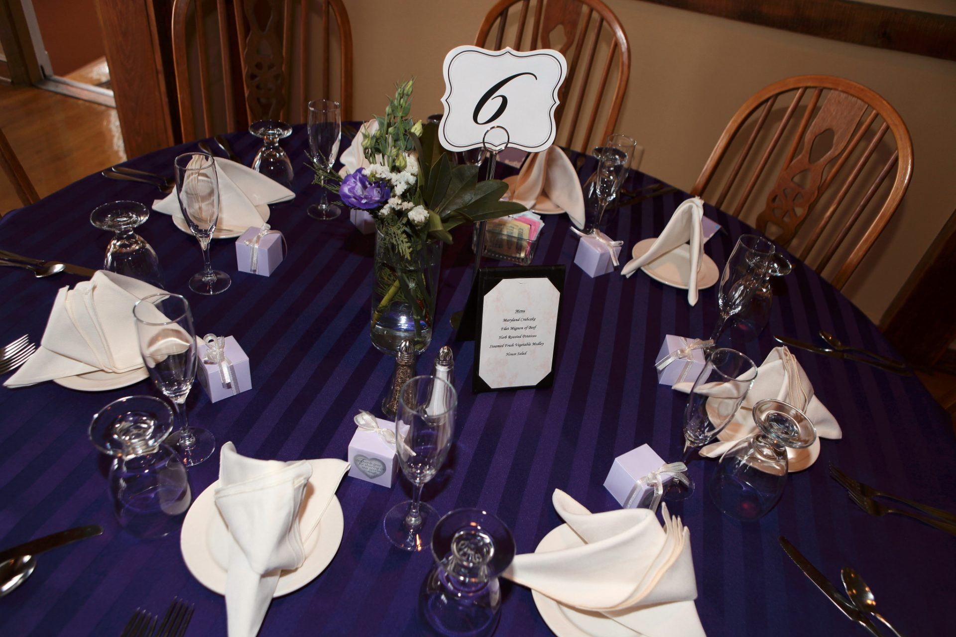 March Wedding table decoration
