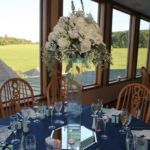 wedding flower center piece for spring wedding at one of best wedding venues in Maryland, Morningside Inn
