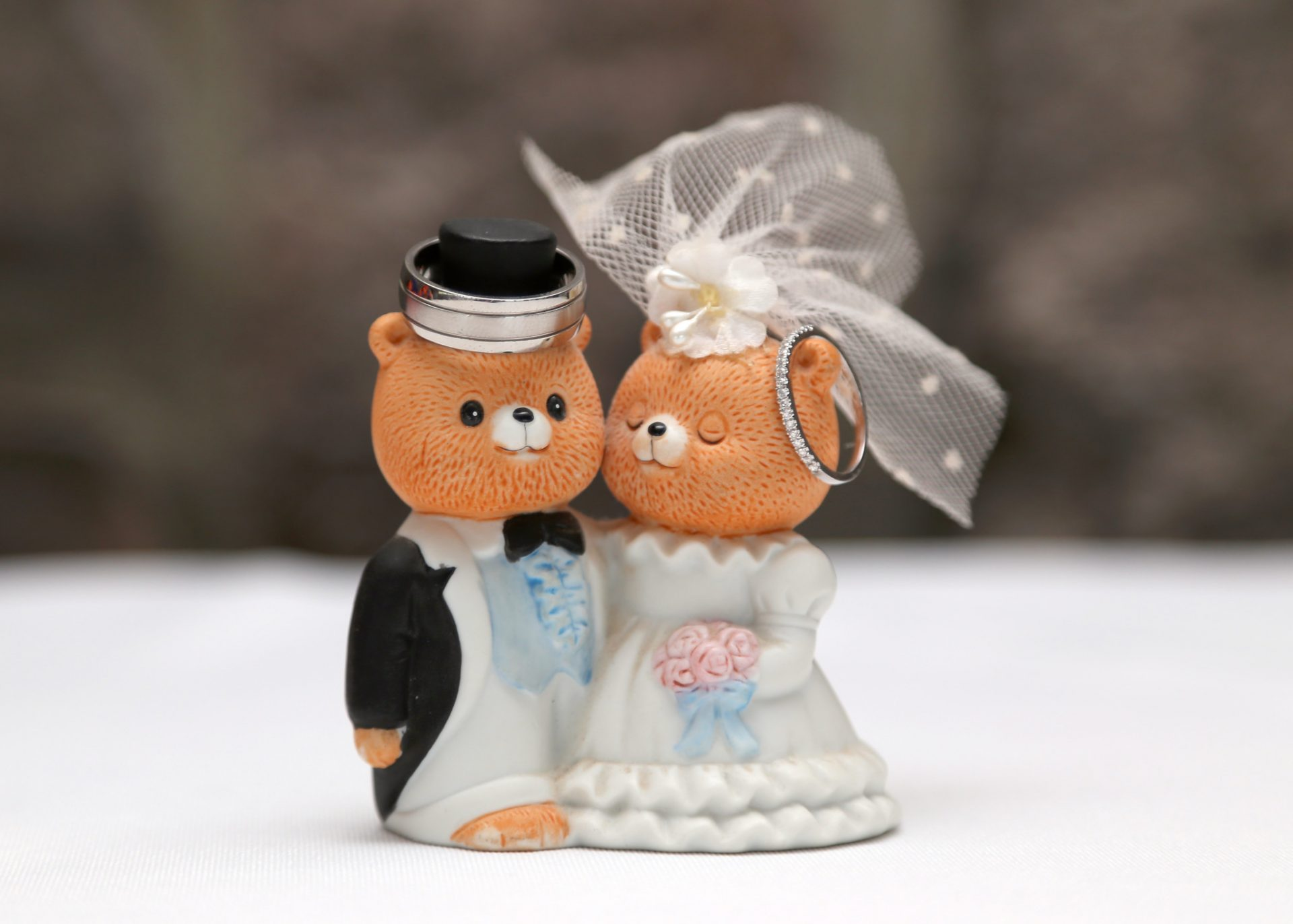 tedding bear bride and groom