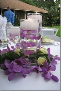 submerged flower wedding centerpiece idea