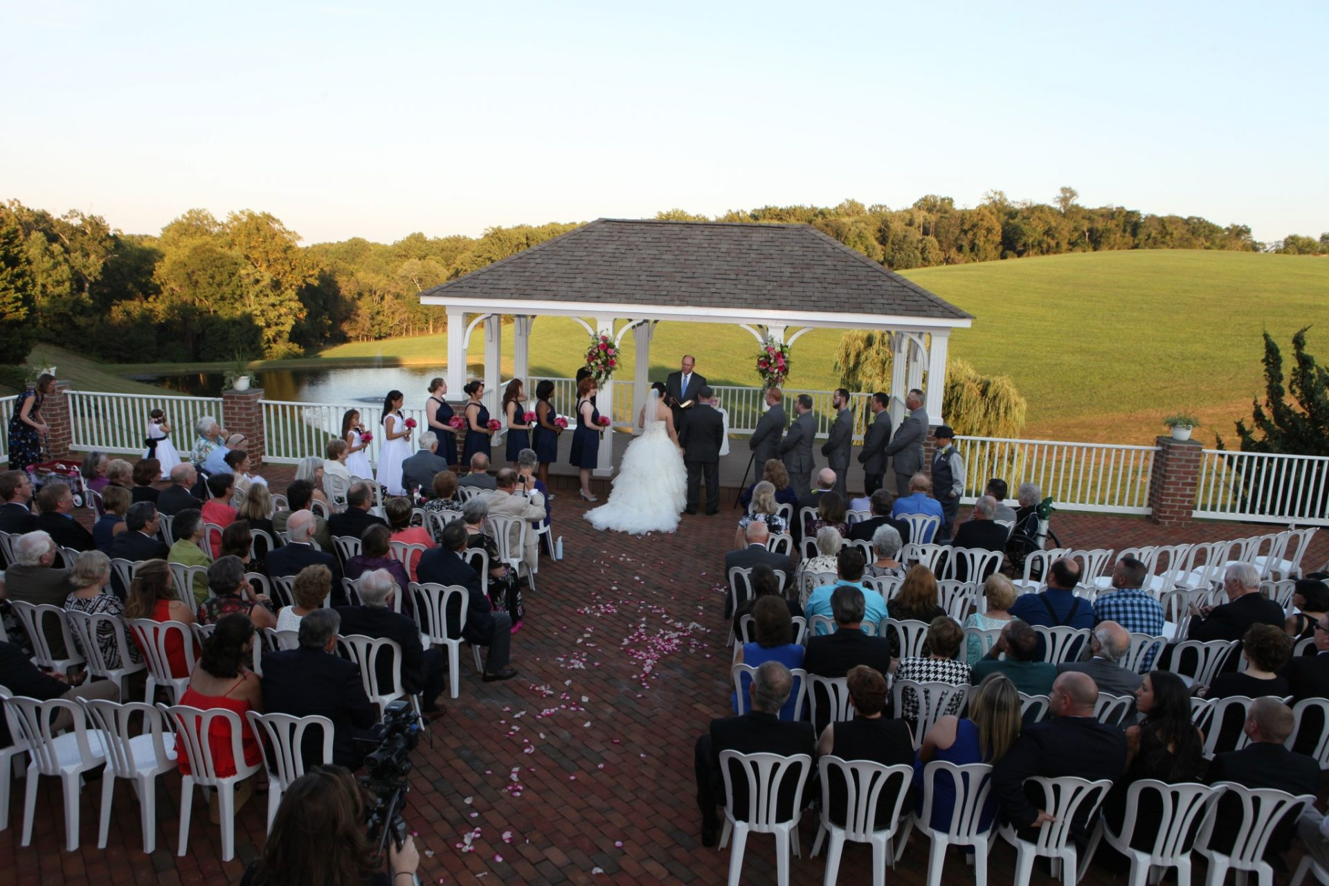 Outdoor gorgeous maryland wedding on pavilion
