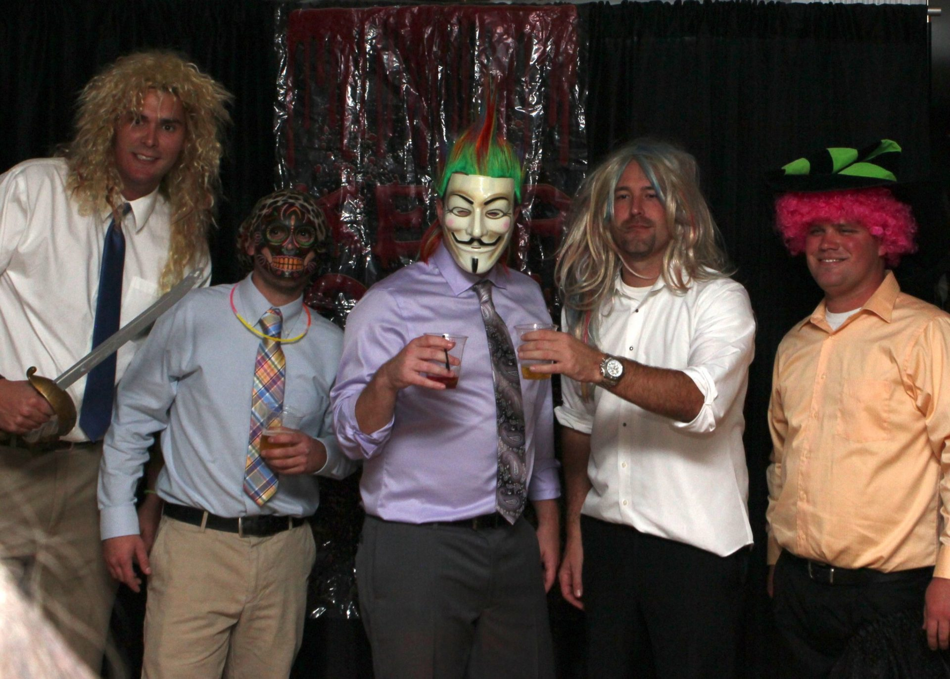 Guest photo booths are fun, especially at halloween weddings