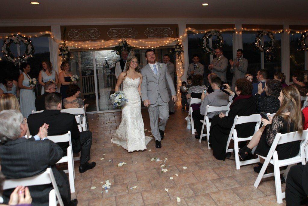 Snow Themed Winter Wedding Ceremony