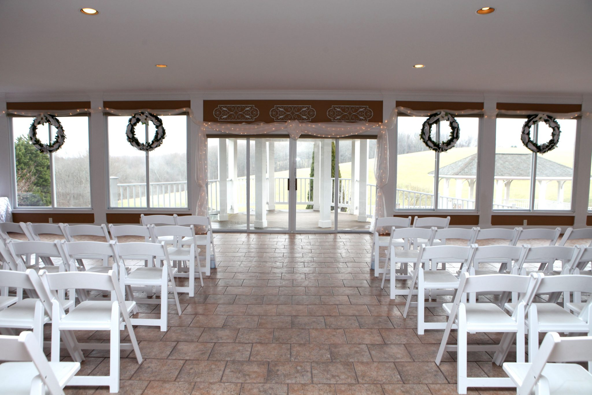 Ashley&Mike-Indoor Wedding Ceremony Set Up • Morningside Inn