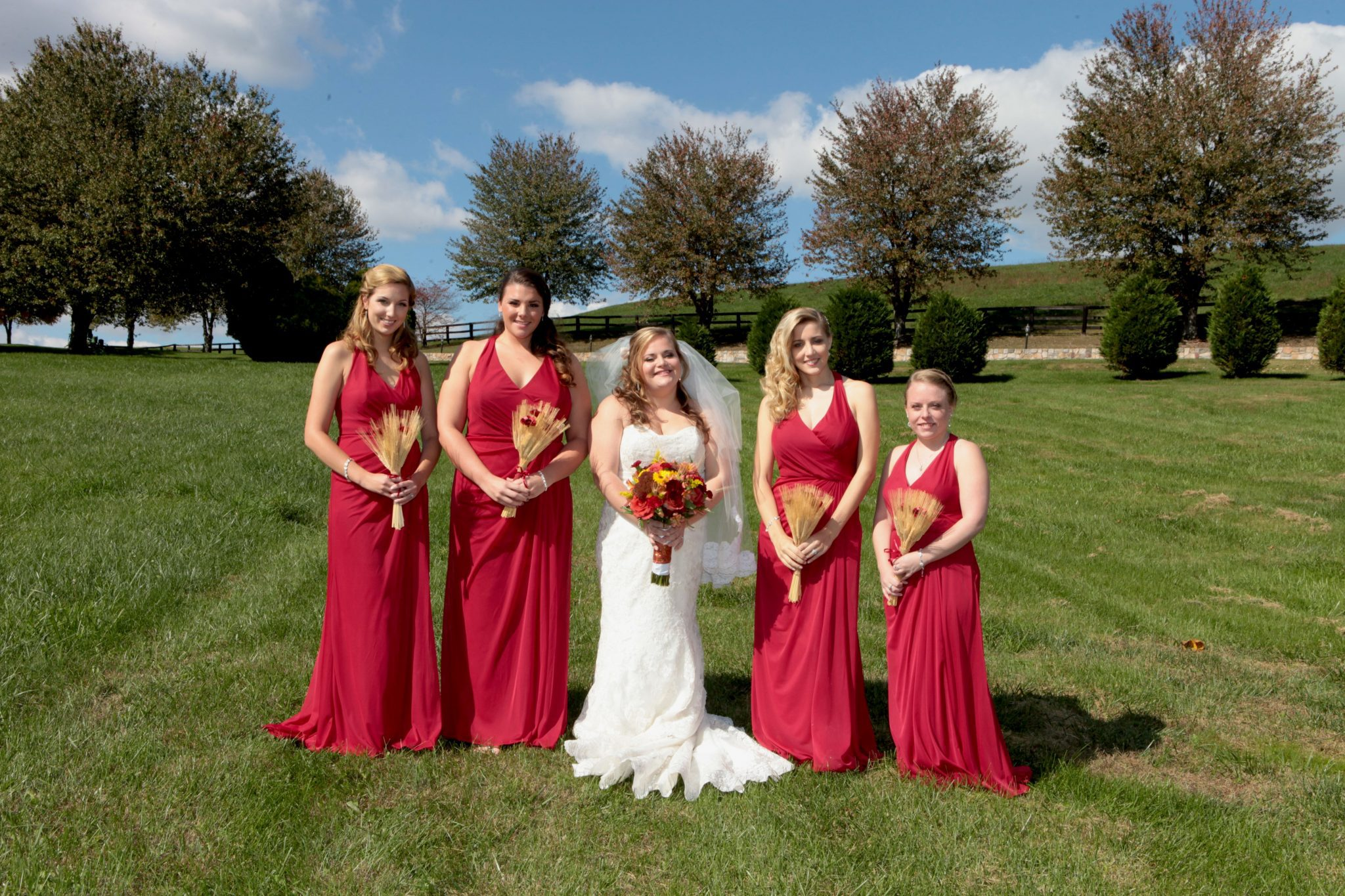 300 acres of privacy provide endless wedding photo opportunites for barn wedding venue in Maryland