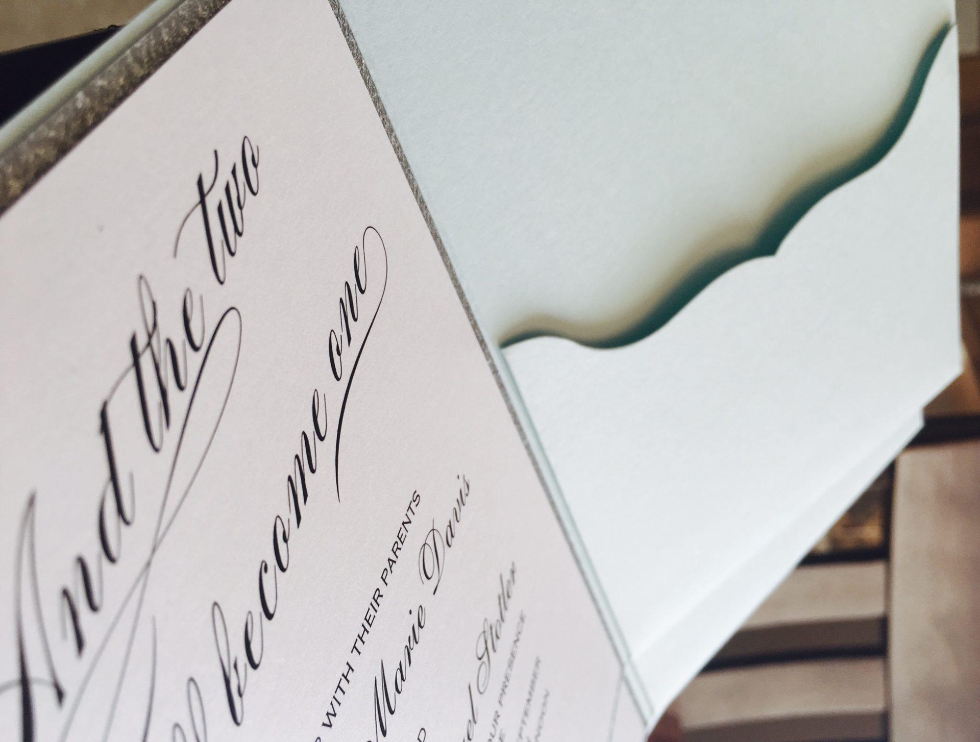 Custom wedding prints invitations