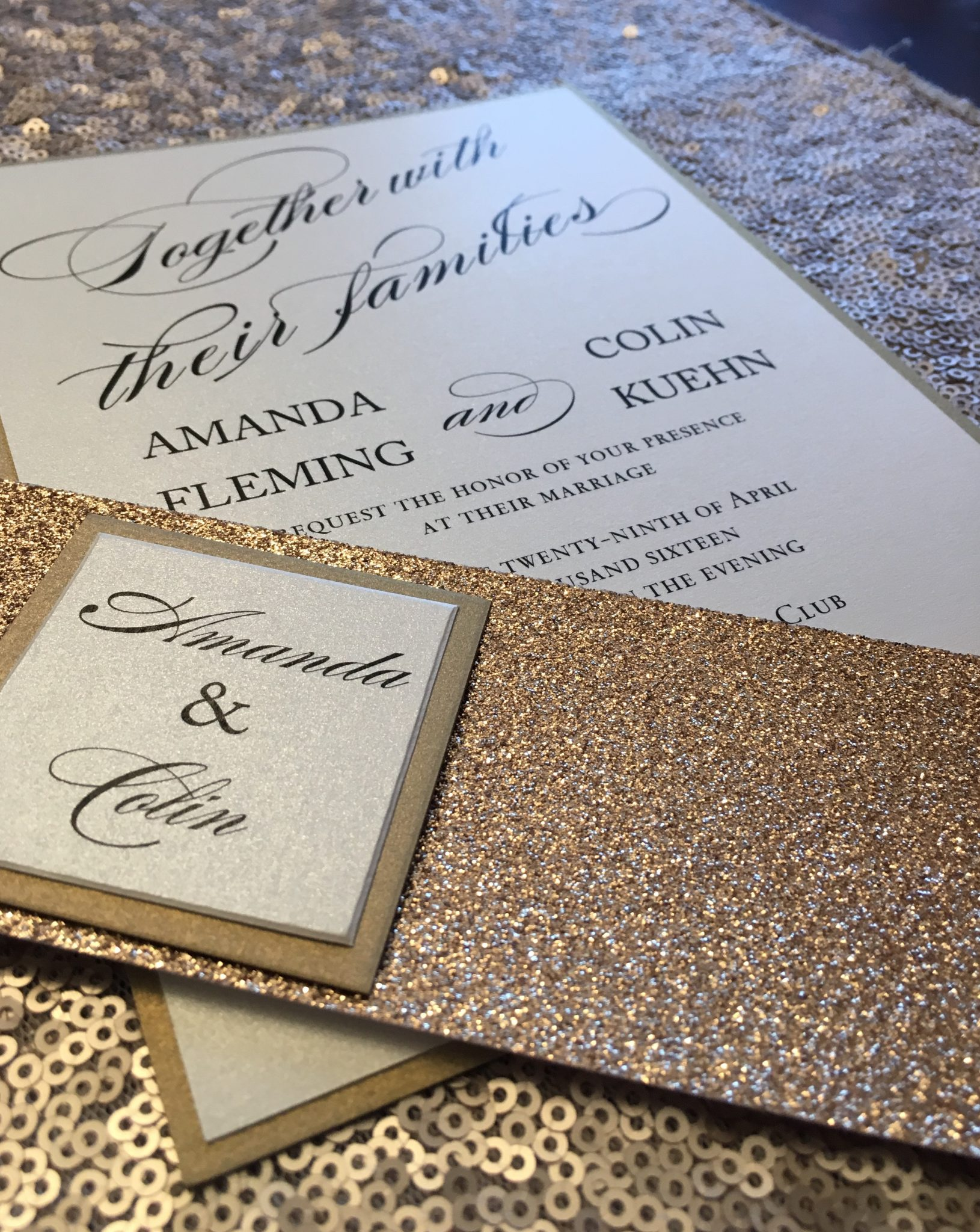 wedding invitation design and print frederick md