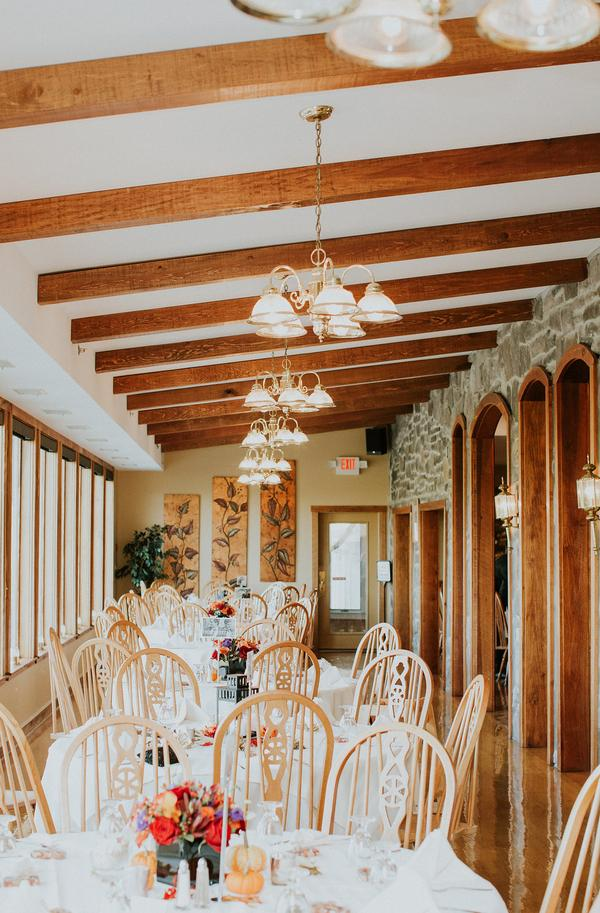 Dining room for wedding reception site in Frederick Maryland