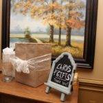 Sign for wedding cards and gifts rustic