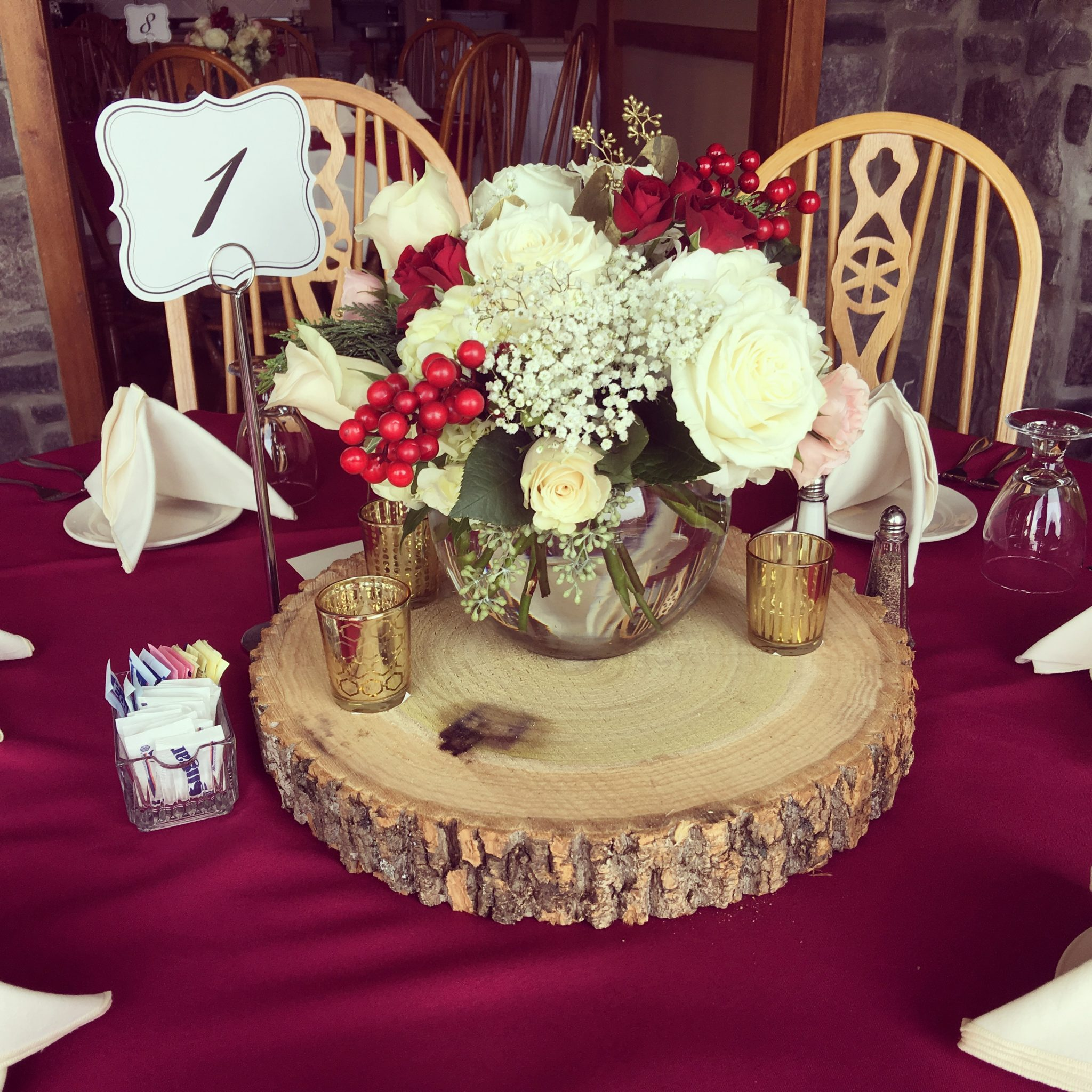 flower centerpiece by florist in Frederick MD