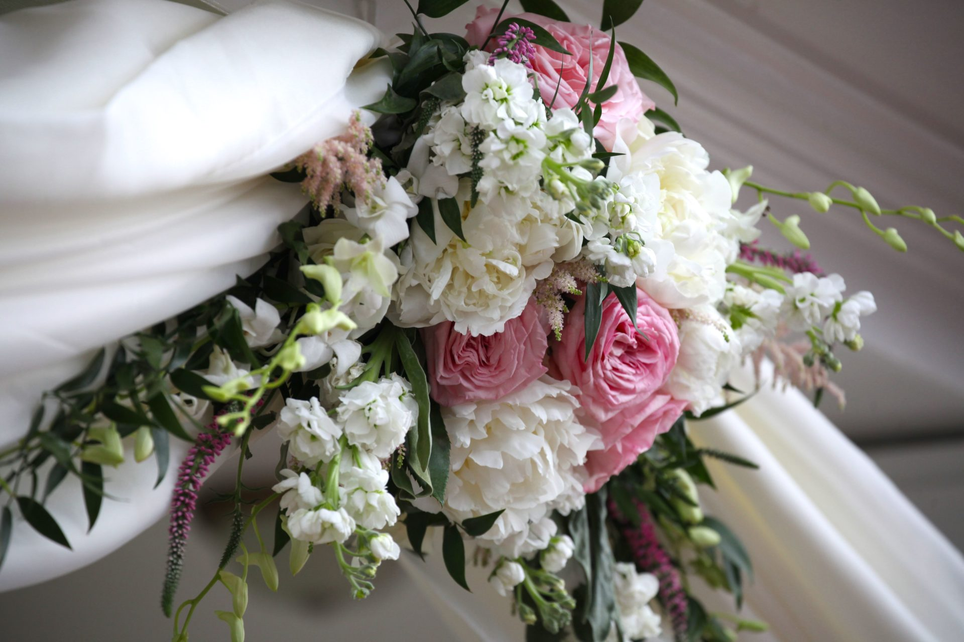 Spring wedding flower ideas, florist in Frederick Maryland for tea party theme wedding