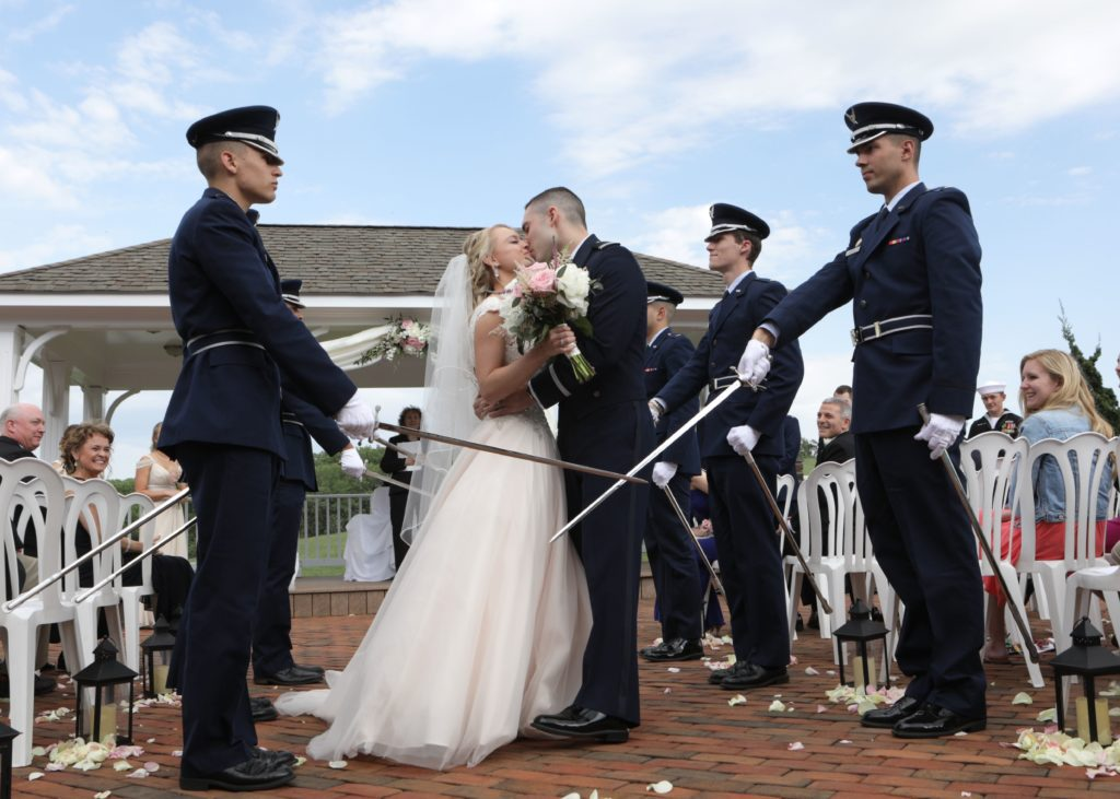 Military wedding in Frederick Maryland