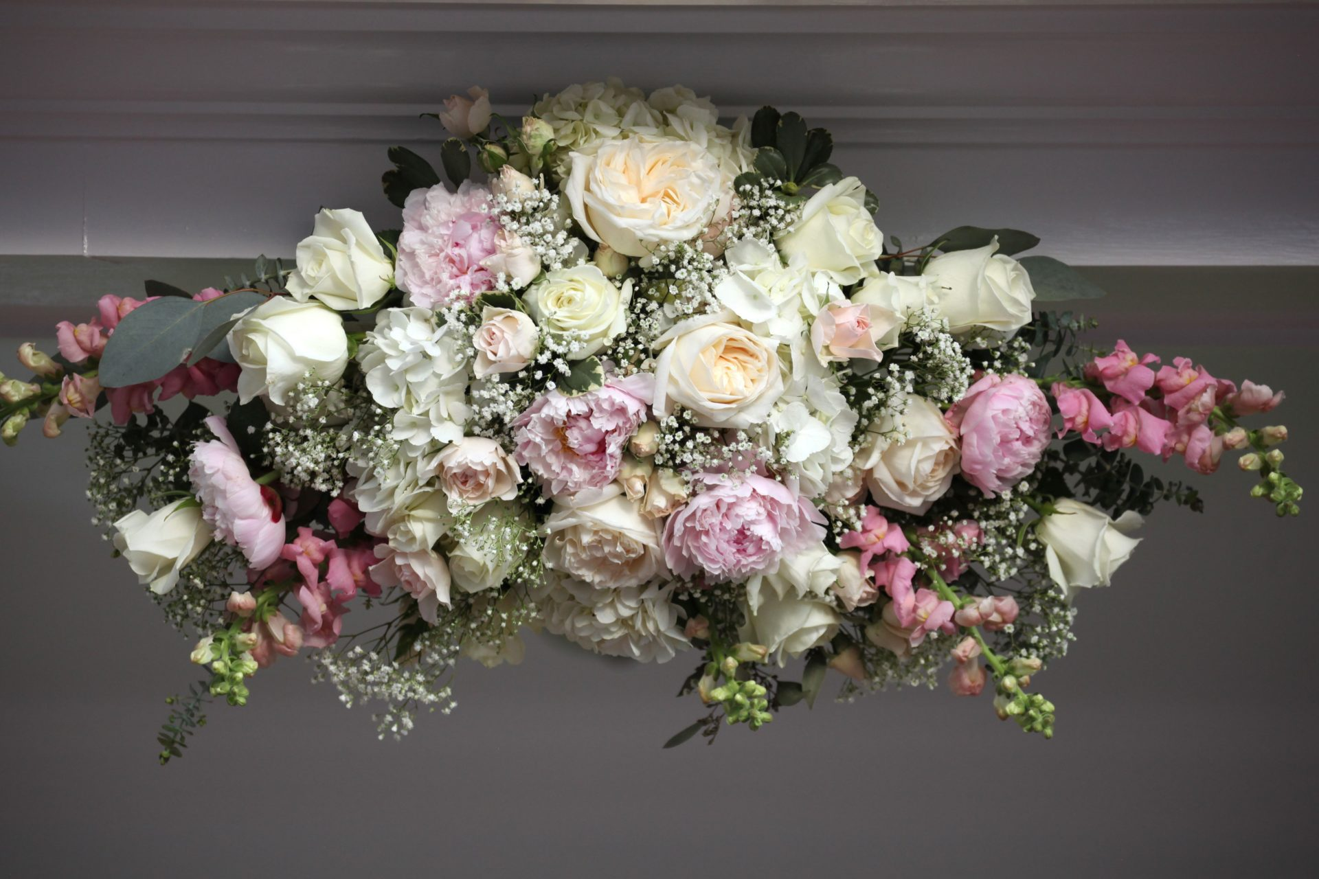 Wedding pavilion flowers
