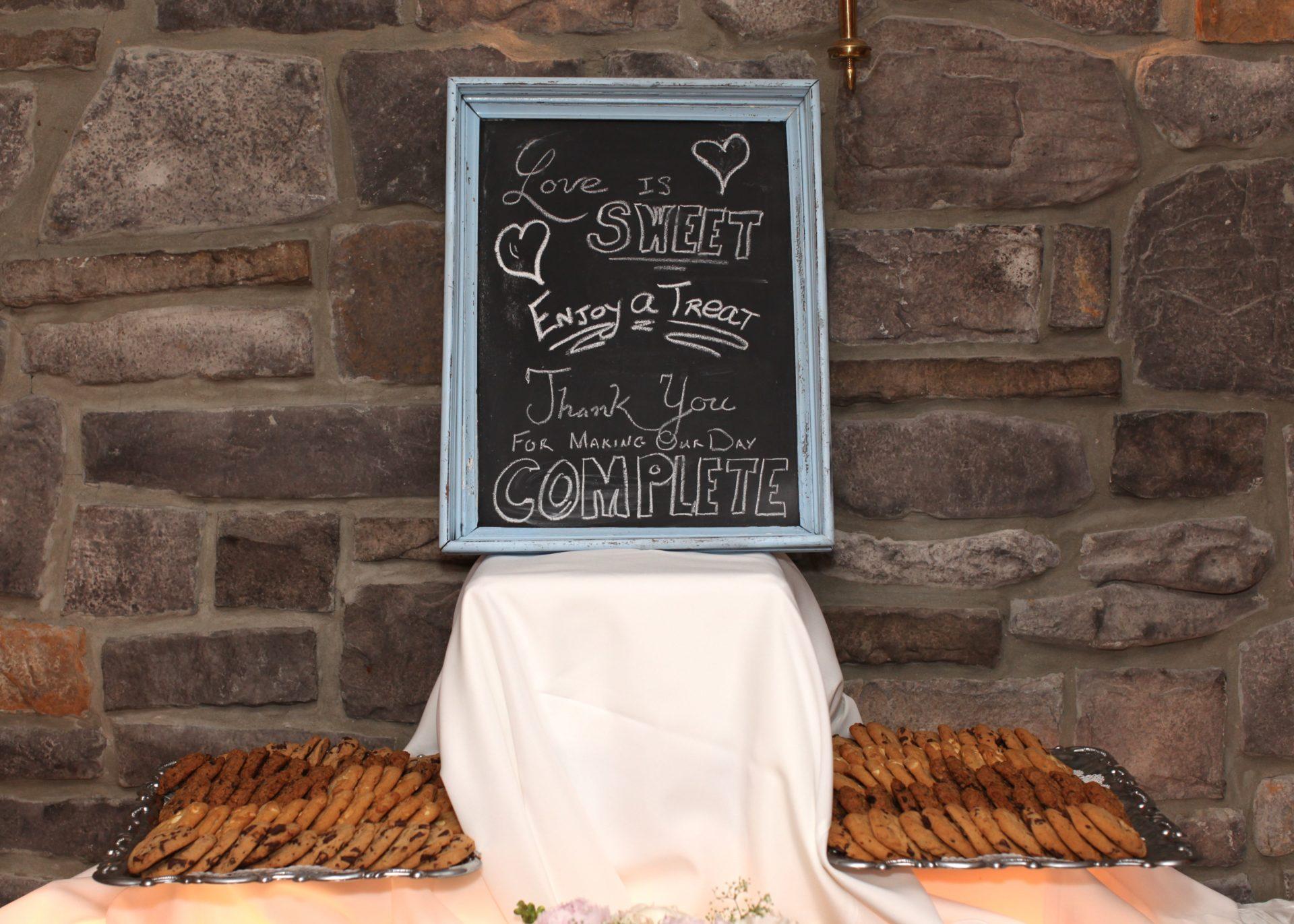 Wedding decoration chalk board