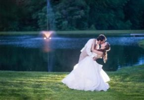 Country wedding venue in Frederick Maryland hosting wedding receptions and outdoor wedding ceremony